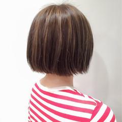 ガーリー 3Dカラー ボブ ハイライト ヘアスタイルや髪型の写真・画像