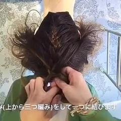 ヘアアレンジ 外国人風 ルーズ 編み込み ヘアスタイルや髪型の写真・画像