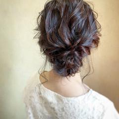 セミロング シニヨン パーティ ヘアアレンジ ヘアスタイルや髪型の写真・画像
