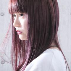 ピンクパープル ピンクアッシュ ピンクラベンダー ナチュラル ヘアスタイルや髪型の写真・画像