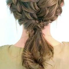 ヘアアレンジ 編み込み デート 女子会 ヘアスタイルや髪型の写真・画像