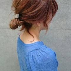 無造作 ゆるふわ ヘアアレンジ 簡単ヘアアレンジ ヘアスタイルや髪型の写真・画像