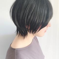 ショートヘア ショート 黒髪ショート ナチュラル ヘアスタイルや髪型の写真・画像
