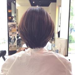 艶髪 お手入れ簡単!! 大人可愛い ボブ ヘアスタイルや髪型の写真・画像