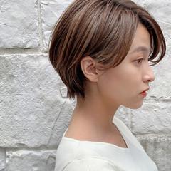 ショート ナチュラル 丸みショート ショートヘア ヘアスタイルや髪型の写真・画像
