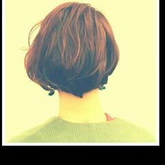 パーマ ガーリー ゆるふわ ボブ ヘアスタイルや髪型の写真・画像