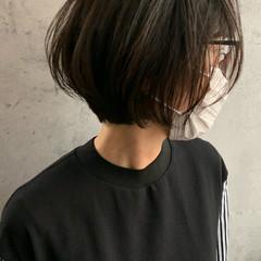 ボブ ミニボブ ナチュラル 内巻き ヘアスタイルや髪型の写真・画像
