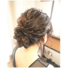 フェミニン パーティ 結婚式 ミディアム ヘアスタイルや髪型の写真・画像