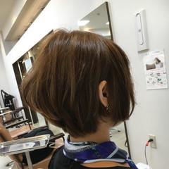 ショートボブ 小顔 ストリート ハイライト ヘアスタイルや髪型の写真・画像
