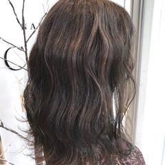 カラーバター 外国人風カラー ナチュラル セミロング ヘアスタイルや髪型の写真・画像