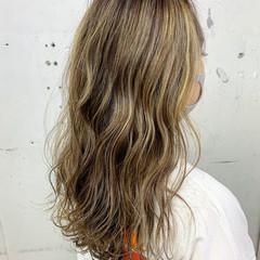 3Dハイライト 外国人風カラー ベージュ ハイライト ヘアスタイルや髪型の写真・画像
