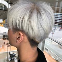 ストリート ホワイトカラー メンズ ショート ヘアスタイルや髪型の写真・画像
