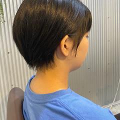 前下がりショート ナチュラル ショートバング ショートヘア ヘアスタイルや髪型の写真・画像