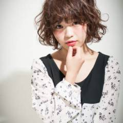 モテ髪 フェミニン ボブ ゆるふわ ヘアスタイルや髪型の写真・画像
