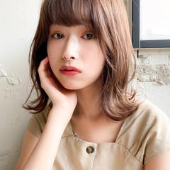 アンニュイほつれヘア ミディアム ミディアムレイヤー デジタルパーマ ヘアスタイルや髪型の写真・画像