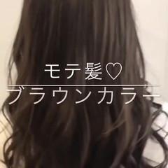 セミロング 渋谷系 オルチャン ナチュラル ヘアスタイルや髪型の写真・画像