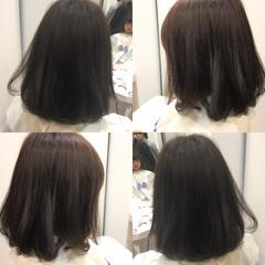 ウェットヘア ゆるふわ イルミナカラー ボブ ヘアスタイルや髪型の写真・画像