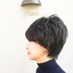 ショート ナチュラル コンサバ かっこいい ヘアスタイルや髪型の写真・画像