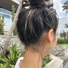 簡単ヘアアレンジ ヘアアレンジ ナチュラル アウトドア ヘアスタイルや髪型の写真・画像