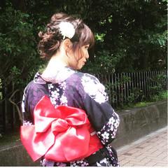 お祭り 和装 花火大会 ヘアアレンジ ヘアスタイルや髪型の写真・画像