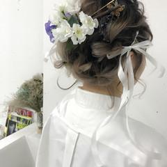 ヘアアレンジ 成人式 ガーリー 謝恩会 ヘアスタイルや髪型の写真・画像