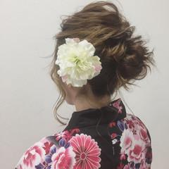 ナチュラル ミディアム 夏 お祭り ヘアスタイルや髪型の写真・画像