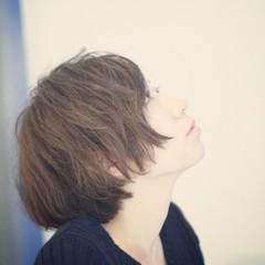 アッシュ 色気 ナチュラル ショートボブ ヘアスタイルや髪型の写真・画像
