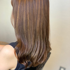 極細ハイライト ジェシカライツカラー エレガント セミロング ヘアスタイルや髪型の写真・画像