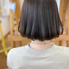 モテボブ ホワイトグレージュ アッシュベージュ グレージュ ヘアスタイルや髪型の写真・画像