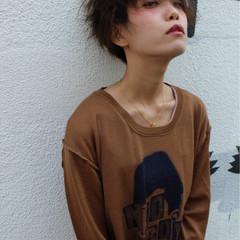 モード 暗髪 パーマ 黒髪 ヘアスタイルや髪型の写真・画像