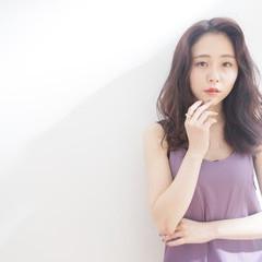 韓国ヘア セミロング 韓国 韓国風ヘアー ヘアスタイルや髪型の写真・画像