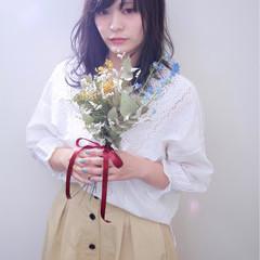 セミロング 外国人風カラー ダブルカラー インナーカラー ヘアスタイルや髪型の写真・画像
