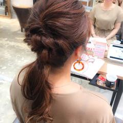 簡単ヘアアレンジ 大人かわいい ヘアアレンジ ナチュラル ヘアスタイルや髪型の写真・画像