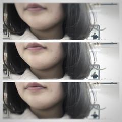 グレージュ ブルージュ グラデーションカラー アッシュ ヘアスタイルや髪型の写真・画像