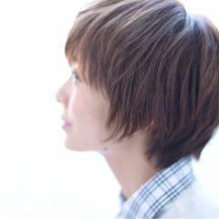 大人かわいい ナチュラル 秋 ショート ヘアスタイルや髪型の写真・画像