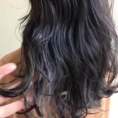 透明感カラー ハイライト ロング インナーカラー ヘアスタイルや髪型の写真・画像