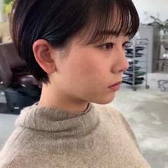 ナチュラル ショートヘア ナチュラル可愛い 耳掛けショート ヘアスタイルや髪型の写真・画像