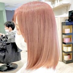 ピンク ピンクベージュ ラズベリーピンク フェミニン ヘアスタイルや髪型の写真・画像