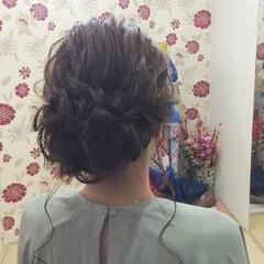 編み込み エレガント 結婚式 ヘアアレンジ ヘアスタイルや髪型の写真・画像