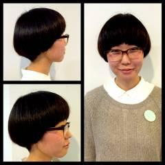 黒髪 ショートボブ マッシュ ボブ ヘアスタイルや髪型の写真・画像
