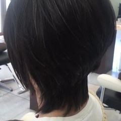 小顔 ナチュラル ボブ ニュアンス ヘアスタイルや髪型の写真・画像