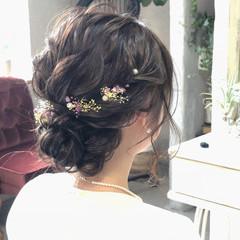 結婚式 ナチュラル シニヨン 成人式 ヘアスタイルや髪型の写真・画像