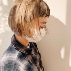 ボブ ストリート ヘアアレンジ 前髪 ヘアスタイルや髪型の写真・画像