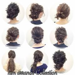 結婚式 アップスタイル 編み込み コンサバ ヘアスタイルや髪型の写真・画像
