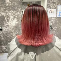 外ハネ ピンク ストリート 外国人風カラー ヘアスタイルや髪型の写真・画像