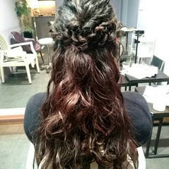 ゆるふわ ヘアアレンジ 波ウェーブ ショート ヘアスタイルや髪型の写真・画像