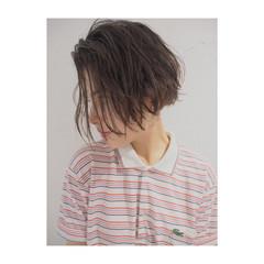 ショートボブ 外国人風 パーマ アッシュ ヘアスタイルや髪型の写真・画像