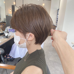 ベージュ ショートヘア ショート ショートボブ ヘアスタイルや髪型の写真・画像
