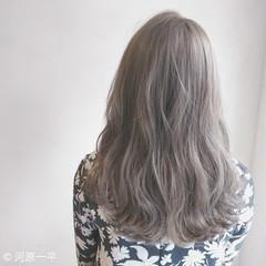 モード グレージュ 外国人風カラー ブリーチ ヘアスタイルや髪型の写真・画像