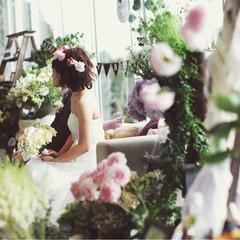 ボブ ブライダル 結婚式 花嫁 ヘアスタイルや髪型の写真・画像